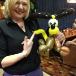 Sharron with her new best mate Pluto!
