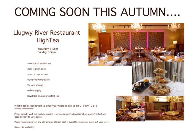 new high tea menu